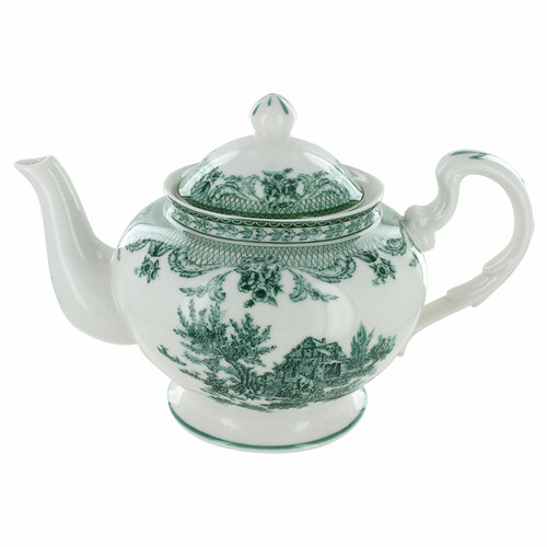 Green Toile Porcelain - 5 Cup Teapot