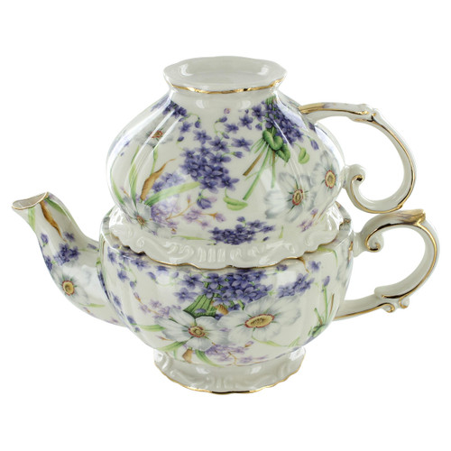 Blue Violet Porcelain - Tea for One