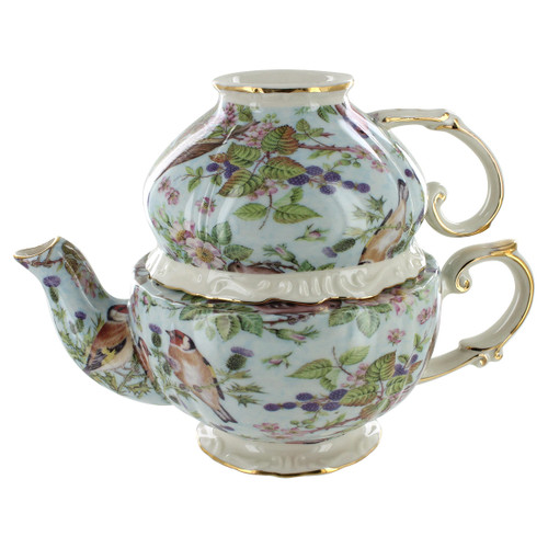 Blue Bird Chintz Porcelain - Tea for One