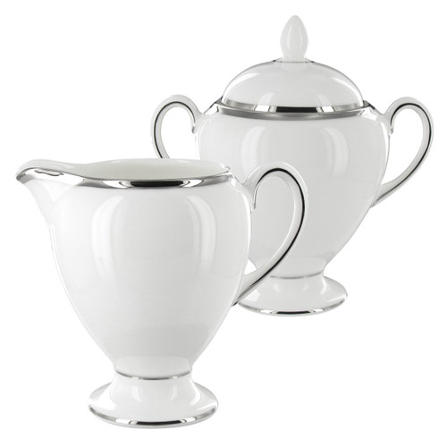 Wedgwood - Sterling - Sugar Bowl and Creamer Set