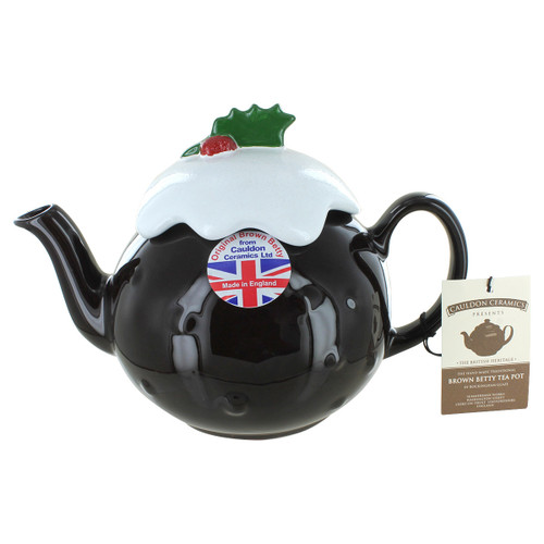Brown Betty Christmas Pudding Teapot - 6 Cup