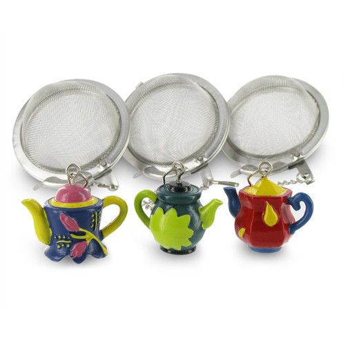 Mesh Infuser Ball - 2in. - with Decorative Teapot