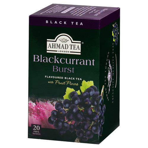 Ahmad Tea's Blackcurrant Burst Flavored Black Tea Bags - 20 count
