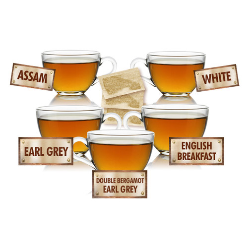 Customer Favorites Sampler - 5 Tea Bags of 5 Delicious Teas