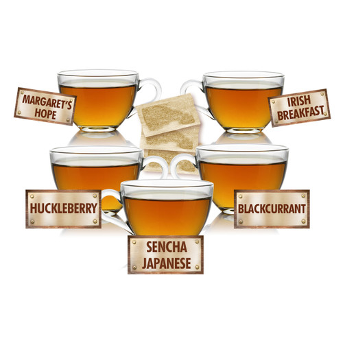 Tea Lovers Sampler - 5 Tea Bags of 5 Delicious Teas