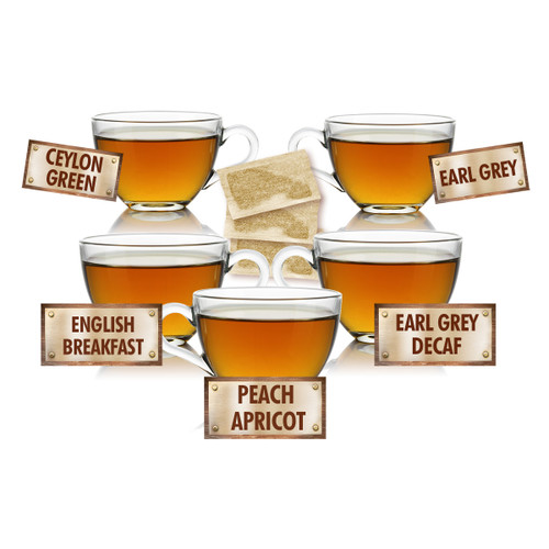 Tea for You Sampler - 5 Tea Bags of 5 Delicious Teas