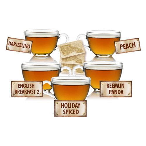 Great Tasting Tea Sampler - 5 Tea Bags of 5 Delicious Teas