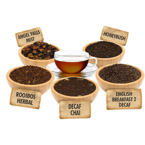 Time to Relax Sampler - 1 ounce Pouches of 5 Caffeine Free Loose Leaf Teas