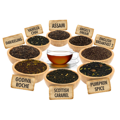 A Tea for Any Occasion Sampler - 1 ounce Pouches of 8 Delicious Loose Leaf Teas