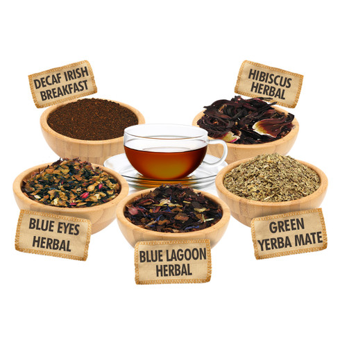 It's You Time Sampler - 1 ounce Pouches of 5 Delicious Loose Leaf Teas