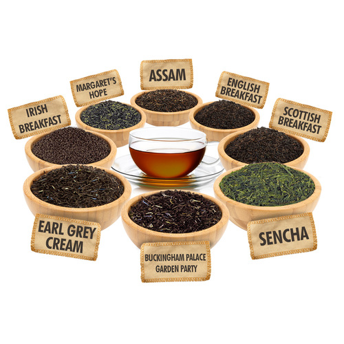 English Tea Sampler - 1 ounce Pouches of our Top 8 English Style Loose Leaf Teas