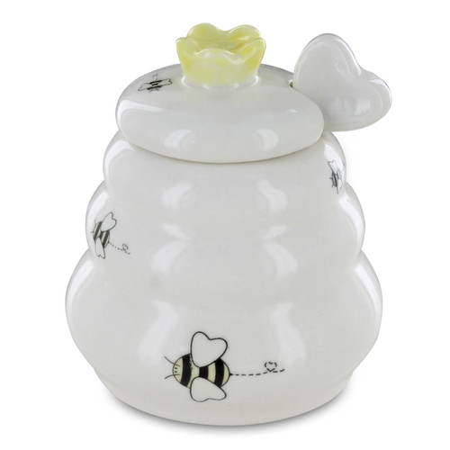 Honey Pot with Wooden Dipper - Sweet As Can Bee
