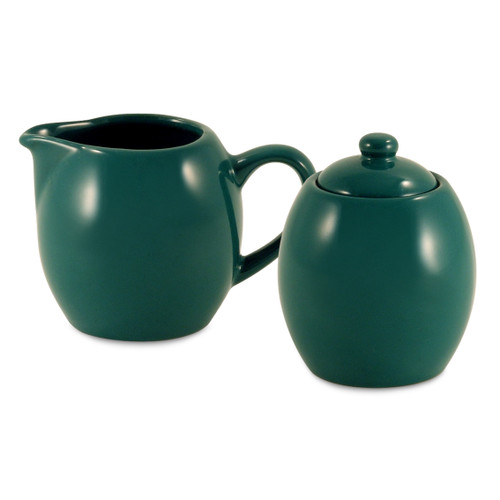 Amsterdam Cream & Sugar Set - Green