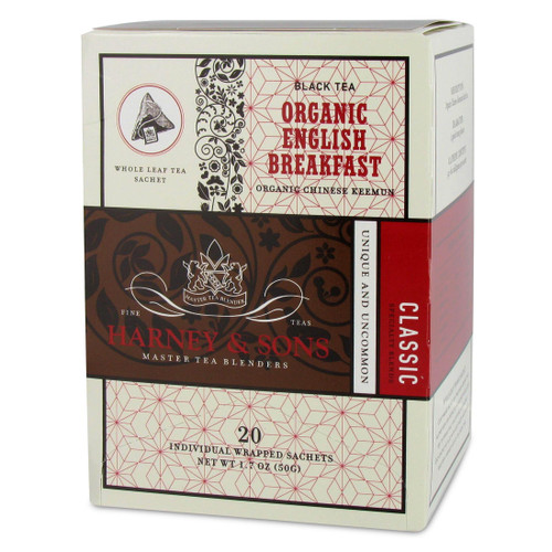 Harney and Sons Tea - Organic English Breakfast - 20 count