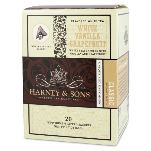Harney and Sons Tea - White Vanilla Grapefruit - 20 count