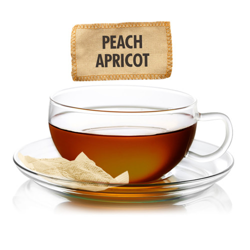 Peach Apricot Flavored Black Tea - Sampler Size - 5 Tea Bags
