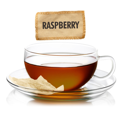 Raspberry Flavored Black Tea - Sampler Size - 5 Tea Bags