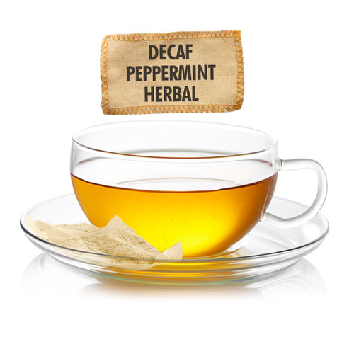 Caffeine Free Peppermint Herbal Tea - Sampler Size - 5 Tea Bags