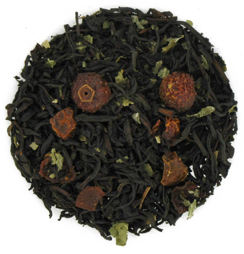 Pomegranate Rosehip Flavored Black Tea - Loose Leaf