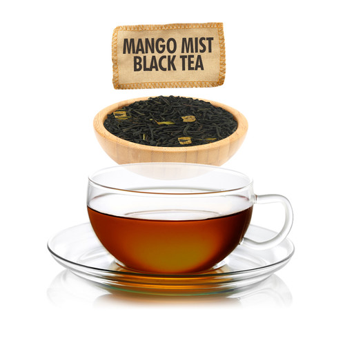 Mango Mist Flavored Black Tea - Loose Leaf - Sampler Size - 1oz