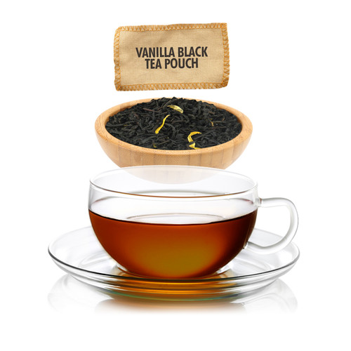 Vanilla Flavored Black Tea - Loose Leaf -  Sampler Size - 1oz