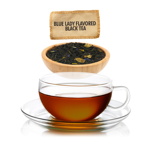 Blue Lady Flavored Black Tea - Loose Leaf - Sampler Size - 1oz