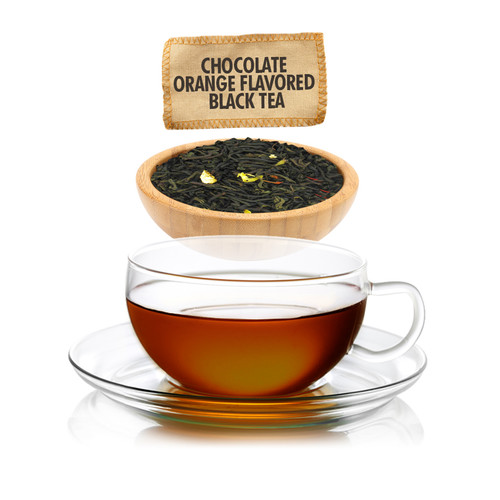 Chocolate Orange Flavored Black  Tea - Loose Leaf - Sampler Size - 1oz
