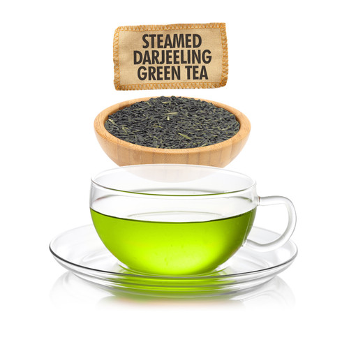 Steamed Darjeeling Green Tea  - Loose Leaf - Sampler Size - 1oz