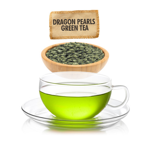 Dragon Pearls Green Tea  - Loose Leaf - Sampler Size - 1oz