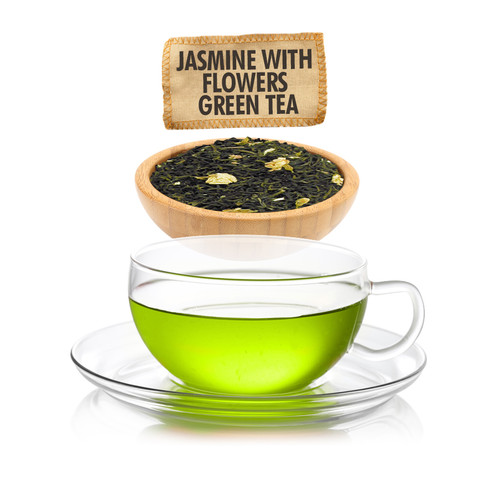 Jasmine with Flowers Green Tea - Loose Leaf - Sampler Size - 1oz