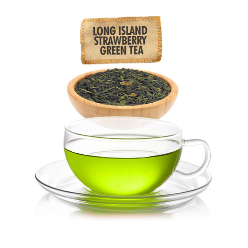 Long Island Strawberry Green Tea  - Loose Leaf - Sampler Size - 1oz