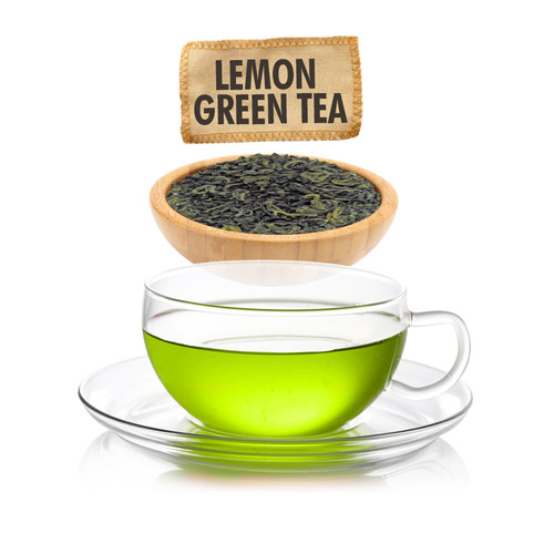 Lemon Green Tea - Loose Leaf - Sampler Size - 1oz