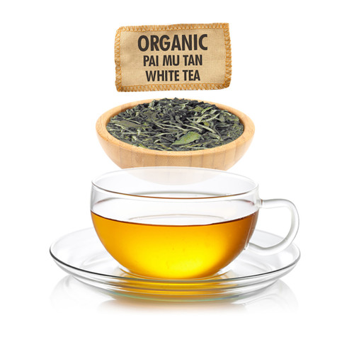 Organic Pai Mu Tan White Tea  - Loose Leaf - Sampler Size - 1oz