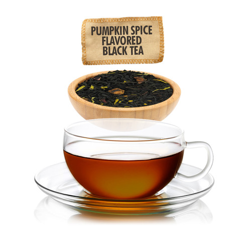 Pumpkin Spice Flavored Black Tea  - Loose Leaf - Sampler Size - 1oz