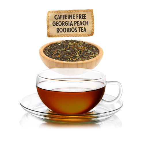 Caffeine Free Georgia Peach Rooibos Tea - Loose Leaf - Sampler Size - 1oz