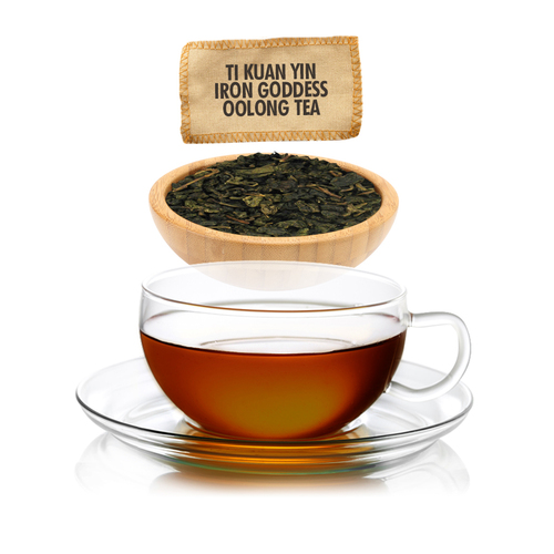 Ti Kuan Yin Iron Goddess Oolong Tea - Loose Leaf - Sampler Size - 1oz