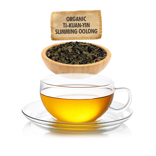 Organic Ti Kuan Yin Slimming Oolong Tea - Loose Leaf - Sampler Size - 1oz