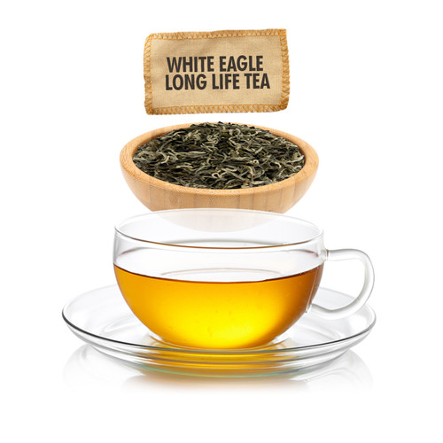White Eagle Long Life Green Tea - Loose Leaf - Sampler Size - 1oz