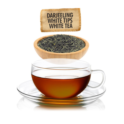 Darjeeling White Tips White Tea  - Loose Leaf - Sampler Size - 1oz