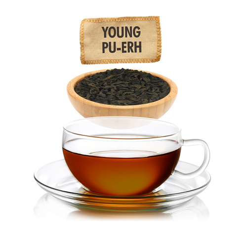 Young Pu-erh Tea  - Loose Leaf -  Sampler Size - 1oz