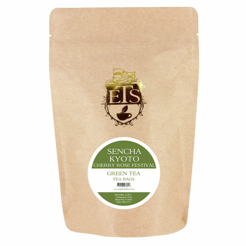 Sencha Kyoto Cherry Rose Festival Green Tea - Tea Bags
