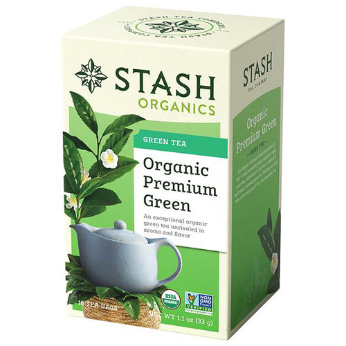 Stash Organic Premium Green Tea - 18 count