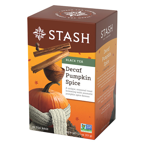 Stash Pumpkin Spice Decaf Tea Bags - 18 count