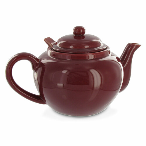 Amsterdam 2 Cup Infuser Teapot - Burgundy