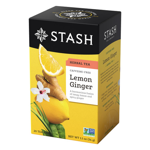 Stash Lemon Ginger Herbal - 20 count