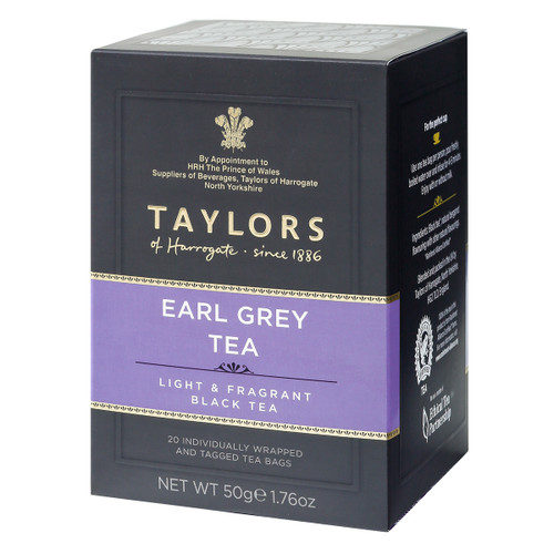 Taylors of Harrogate Earl Grey Tea String and Tag Teabags - 20 count