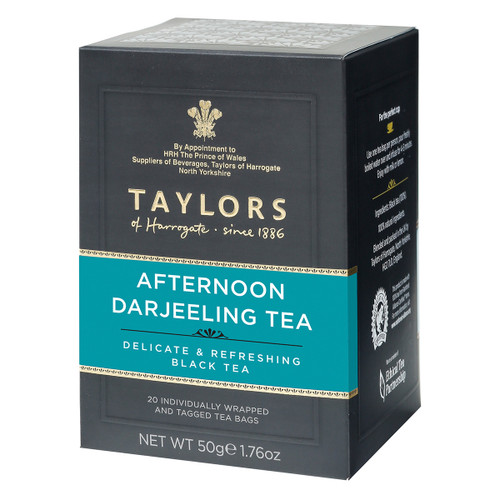 Taylors of Harrogate Afternoon Darjeeling String and Tag Teabags, 20ct