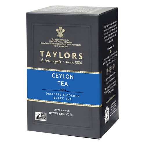 Taylors of Harrogate Pure Ceylon Tea Bags - 50 count