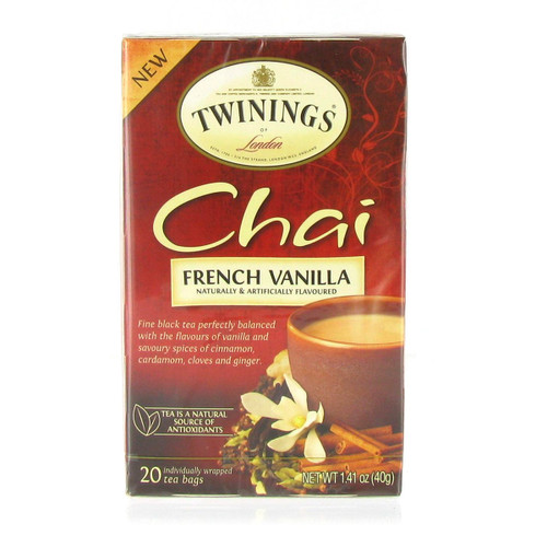 Twinings French Vanilla Chai - 20 count