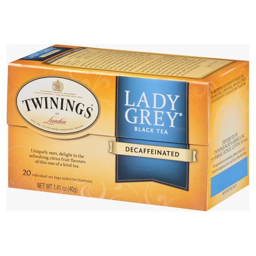 Twinings Lady Grey Decaffeinated Tea - 20 count